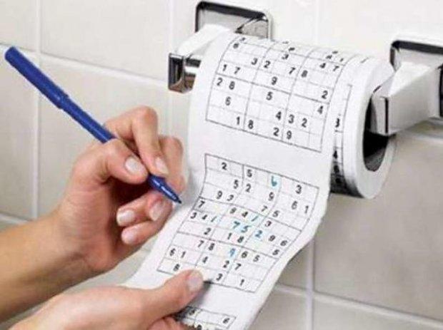 Papier toaletowy z Sudoku