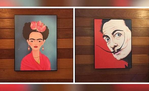 Dali i Frida na znaku toaletowym