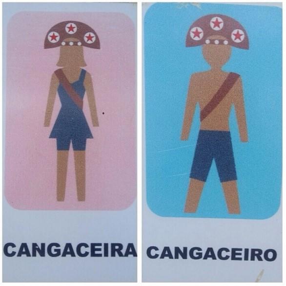 Azteckie odniesienia na znaku toaletowym