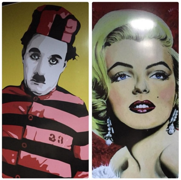 Charlie Chaplin i Marilin Monroe w toalecie