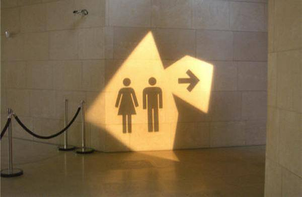 Artystyczna forma znaku toaletowego